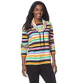 Chaps® Striped Interlock Pullover