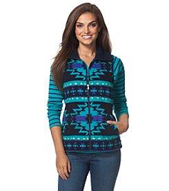 Chaps® Southwestern Fleece Vest