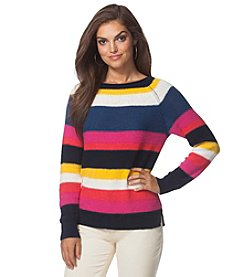 Chaps® Striped Bateau-Neck Sweater