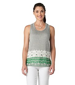 Democracy Crochet Spliced Tank Top