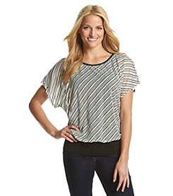 AGB® Diagonal Stripe Top