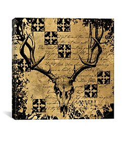 iCanvas B&G Deer Skull by Art Licensing Studio Canvas Print