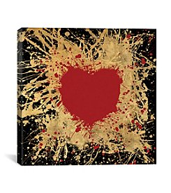 iCanvas Heart Of Gold I by Art Licensing Studio Canvas Print