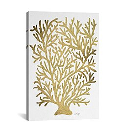 iCanvas Gold Coral Artprint by Cat Coquillette Canvas Print