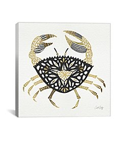 iCanvas Black Gold Crab Artprint by Cat Coquillette Canvas Print