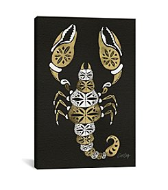iCanvas Black Gold Scorpion Artprint by Cat Coquillette Canvas Print