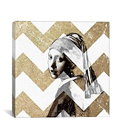 iCanvas Girl with a Pearl Earring XII by 5by5collective Canvas Print