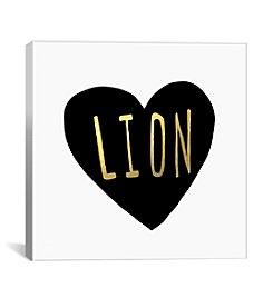 iCanvas Lion Heart by Leah Flores Canvas Print