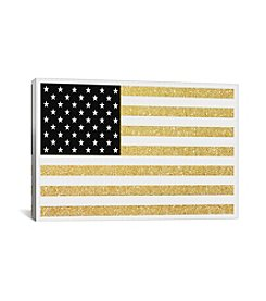 iCanvas Gold Flag I by Natasha Westcoat Canvas Print