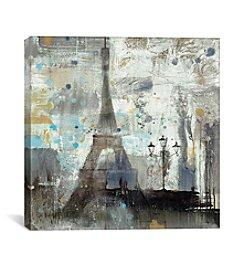 iCanvas Eiffel Tower Neutral by Albena Hristova Canvas Print