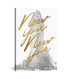 iCanvas Gilded New York by All That Glitters Canvas Print