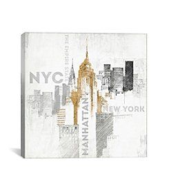 iCanvas Empire State Building by All That Glitters Canvas Print