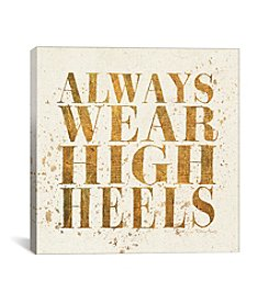 iCanvas Shoe Fetish Quotes II Light by All That Glitters Canvas Print