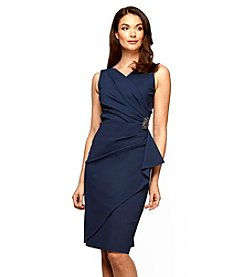 Alex Evenings® Broach Ruched Dress