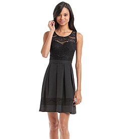 GUESS Lace Fit And Flare Dress