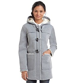 Jessica Simpson Fleecy Wool Hooded Toggle Coat