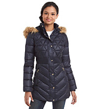 Jessica Simpson® Three-Quarter Inset Waist Puffer Jacket