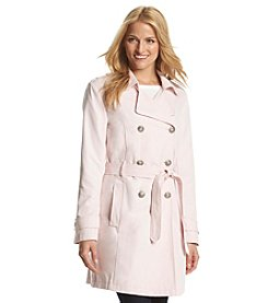 Relativity® Double-Breasted Trenchcoat