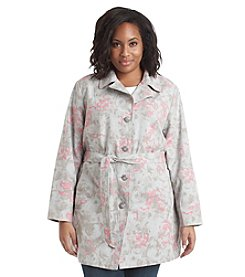 Relativity® Plus Size Printed Belted Jacket