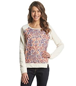 Lucky Brand® Floral Printed Pullover