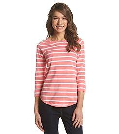 Jeanne Pierre® Striped Crew Neck Pullover