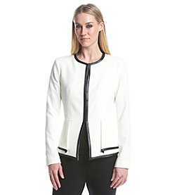Calvin Klein Collarless Ponte Jacket