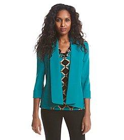 Kasper® Crepe Cardigan Jacket