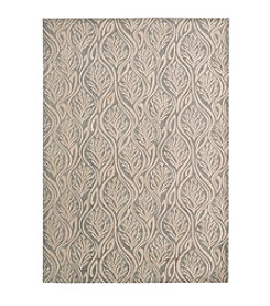 Nourison Hollywood Shimmer Aloha Paradise Cove Light Grey Area Rug