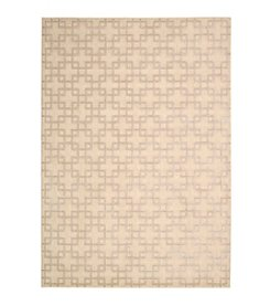 Nourison Hollywood Shimmer Architral Times Square Bisque Area Rug