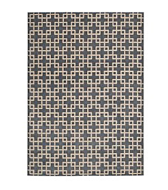 Nourison Hollywood Shimmer Architral Times Square Steel Area Rug