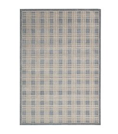 Nourison Hollywood Shimmer Americana Mission Craft Blue Area Rug