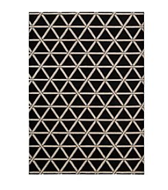 Nourison Hollywood Shimmer Architral Motor Crossing Onyx Area Rug