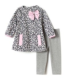 Nannette® Baby Girls' 2-Piece Leopard Leggings Set