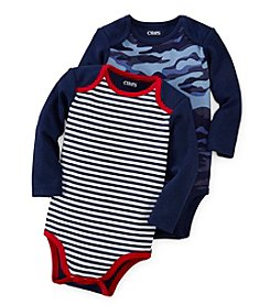 Chaps® Baby Boys' 12-24 Month Long Sleeve 2-pc. Bodysuit Set