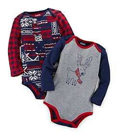 Chaps® Baby Boys' 12-24 Month Long Sleeve Holiday 2-pc. Bodysuit Set