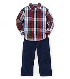 Chaps® Baby Boys' 12-24 Month Woven Plaid Shirt Set
