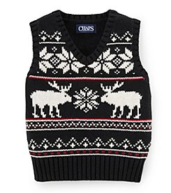 Chaps® Baby Boys' 12-24 Month Reindeer Snowflake Vest