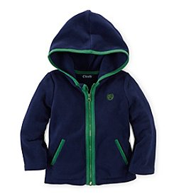 Chaps® Baby Girls' 12-24 Month Zip-Up Hooded Sweatshirt