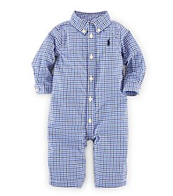 Ralph Lauren Childrenswear Baby Boys' 3-12M Tattersall Coveralls