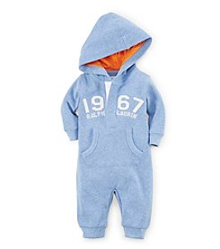 Ralph Lauren Childrenswear Baby Boys' 3-12M Hooded Coverall