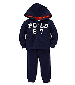 Ralph Lauren Childrenswear Baby Boys' 3-24M Hooded Pants Set