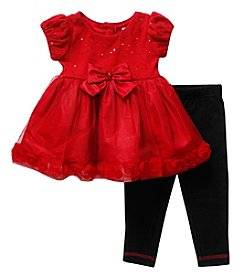 Sweet Heart Rose® Baby Girls' Sequin Legging Set with Bow