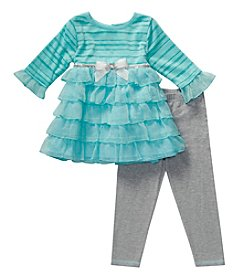 Sweet Heart Rose® Baby Girls' Tiered Legging Set with Bow