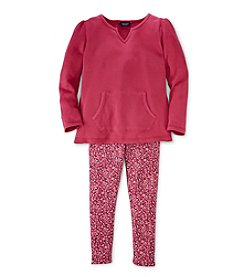 Chaps® Girls' 2T-6X Tunic and Leggings Set