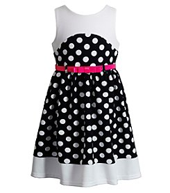 Sweet Heart Rose® Girls' 2T-6X Sleeveless Polka Dot Dress