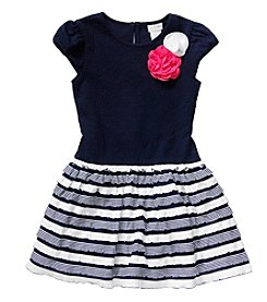 Sweet Heart Rose® Girls' 2T-6X Ponte Dropwaist Dress