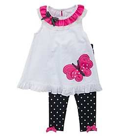 Rare Editions® Girls' 2T-6X Butterfly Tunic And Leggings Set