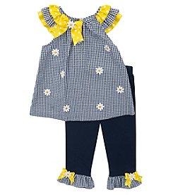 Rare Editions® Girls' 2T-6X Seersucker Daisy Tunic & Pants Set