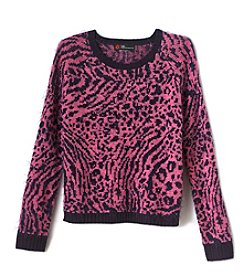 Miss Attitude Girls' 7-16 Eyelash Sweater