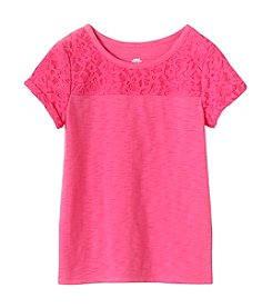 mix&MATCH Girls' 2T-6X Lace Yoke Tee